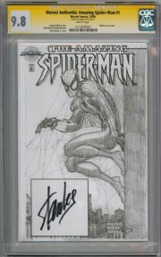 Amazing Spider-man #1 Authentix Variant CGC 9.8 Signature Series Signed Stan Lee Marvel comic book